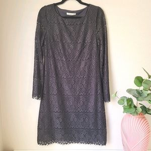 Laundry by design crochet lace cocktail LBD dress